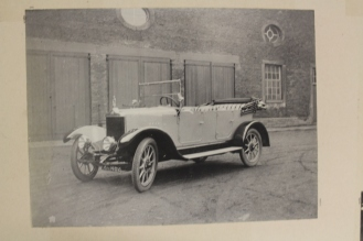 Car outside the stables