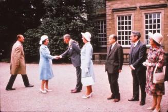 Queen Elizabeth meeting dignitaries