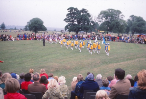 Hoyland Majorettes perform in the arena
