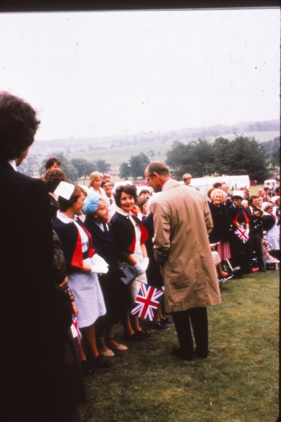 Prince Philip speaks to nurses