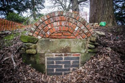 The Ice-House at Cannon Hall is currently well hidden under years of leaf litter and soil.